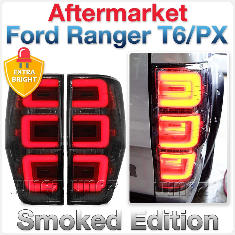 Tunez LED Smoked R/ücklicht Lampe hinten RANGER PX T6 XL XLT Limited 2 Wildtrak