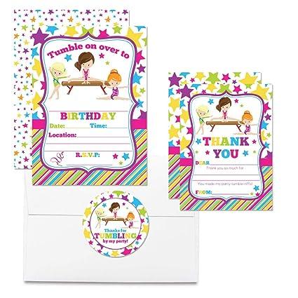 Amazon.com: Juego de 20 tarjetas de invitación de cumpleaños ...