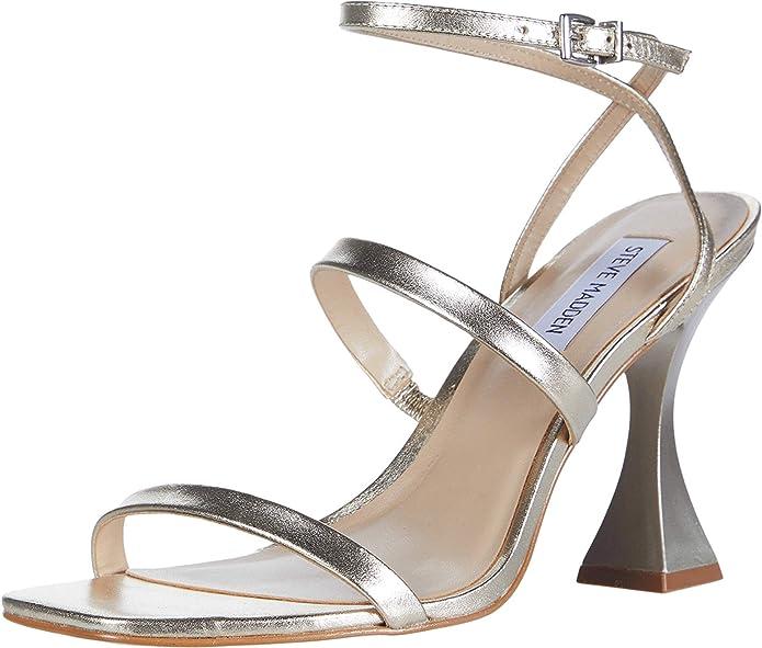 por favor confirmar Pensar en el futuro podar  Steve Madden Scorpius Heeled Sandal Gold Size: 6.5 UK: Amazon.co.uk: Shoes  & Bags