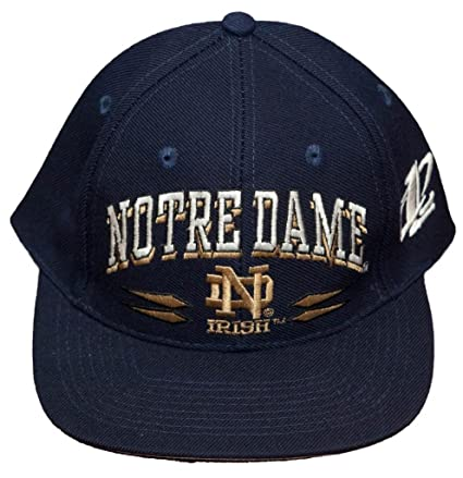7d6a81221ec93d Amazon.com : New! University of Notre Dame Adjustable Snap Back Hat ...