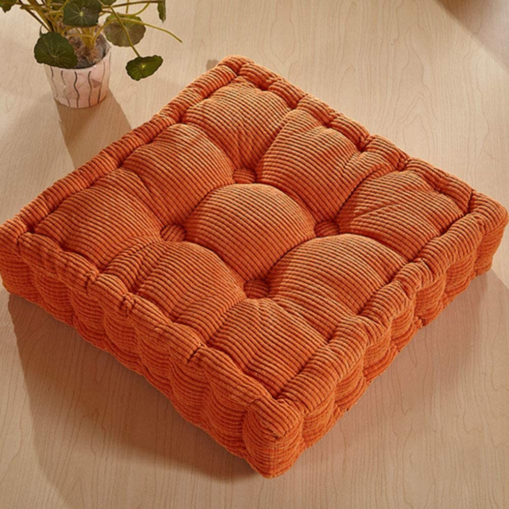 Lanlan Floor Cushion Square Floor Pillow Thicken Elastic Chair Cushion Solid Color Seat Cushion Square Floor Cushion for Home Office Chair 40X40cm Aqua Blue