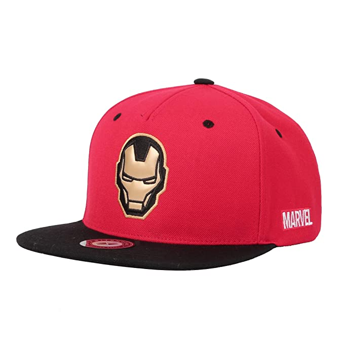 4c6e4a9caab WITHMOONS Marvel Avengers Infinity War Iron Man Baseball Cap HL21113 (Red)  at Amazon Men s Clothing store