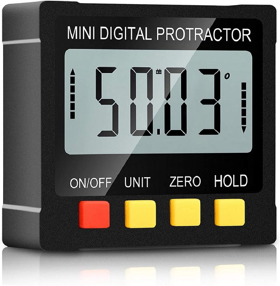 Digital Angle Gauge Level Box Protractor Angle Finder Inclinometer Magnet LCD