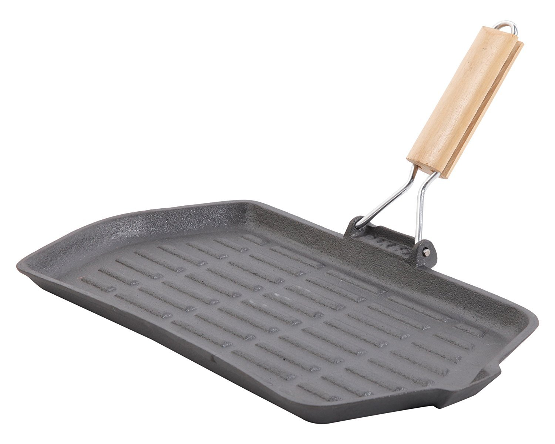 General Store Addlestone Cast Iron Grill with Wood Handle, Black [並行輸入品]   B06WV7FTJ6