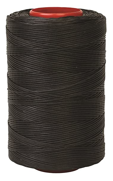 RITZA TIGRE WAXED HAND SEWING THREAD 1.0mm FOR LEATHER//CANVAS /& 2 NEEDLES  GREY