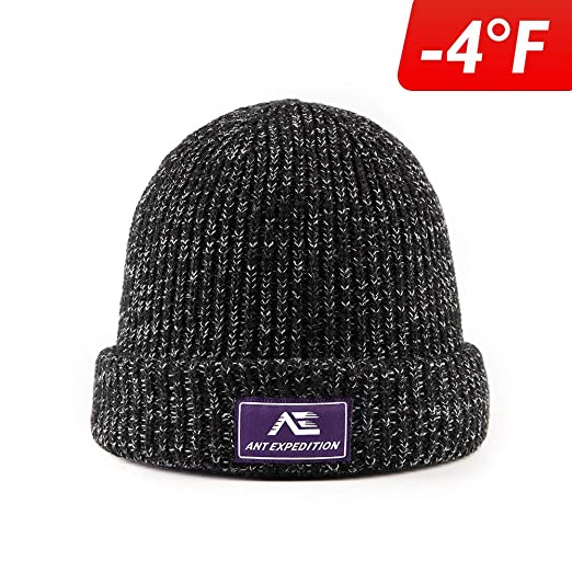 306d8ab10452df ANT EXPEDITION Wool Beanie Hat Winter Warm Hats Knit Slouchy Thick Skull Cap  for Men and