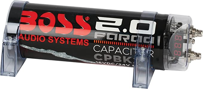 BOSS Audio CPRD2-2 Farad Car Capacitor For Energy Storage To Enhance Bass Demand From Audio System Boss Audio Systems Inc.