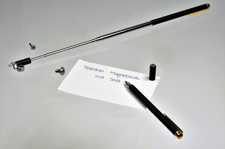 Teleskop Magnetheber 64cm Chrom ausziehbar 1500g Magnetgreifer Magnetstift Heber