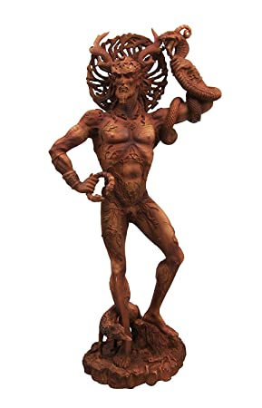 Celtic God Cernunnos The Horned God Herne The Hunter Decorative Figurine 9.5 Tall