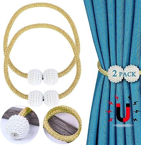 3 Paar Perle Magnetische Vorhang Raffhalter Holdbacks Vorhänge Halter