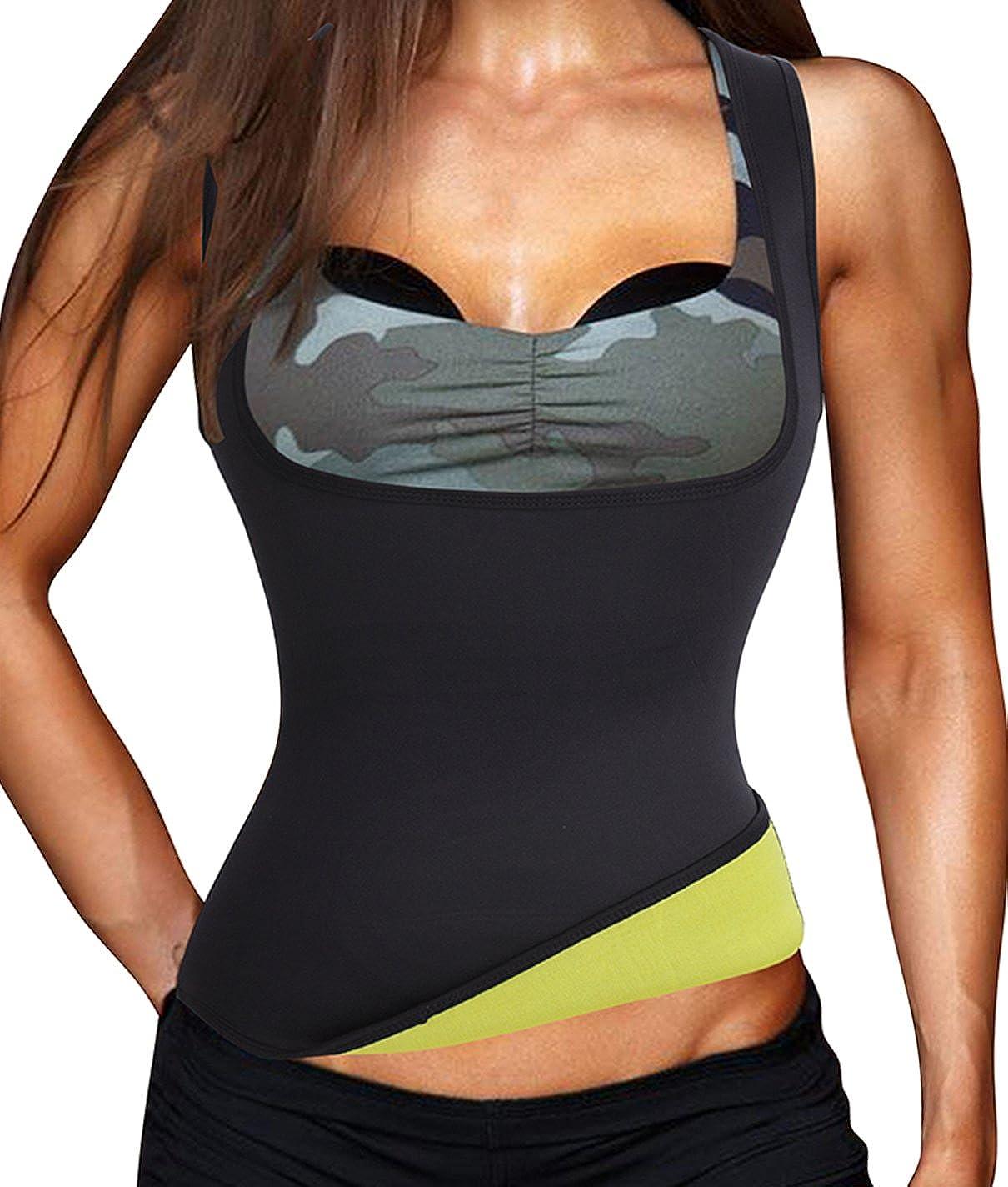 Pullover Waist Sauna Shirt,Neoprene Thermo Body Shaper Sweating for Training Women