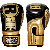 Ringside Apex Flash Sparring Gloves, Black/Gold, 14-Ounce