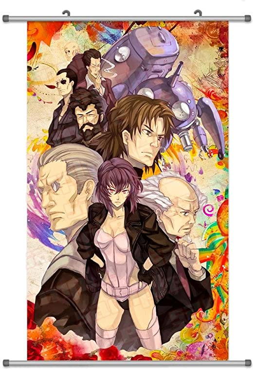 Amazon Com A Wide Variety Of Ghost In The Shell Anime Characters Wall Scroll Hanging Decor Group 4 Posters Prints