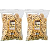 2 Pack of Trader Joes Dried Fruit Organic Banana Chips 16-oz Bags Pack of 10
