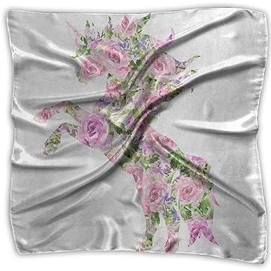 Bufanda cuadrada Flor de amapola romántica Mariquita Cuello Cabeza ...