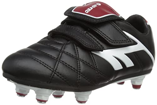 Hi-Tec Unisex League Pro Si Ez Junior Football Shoes - Black (Black/