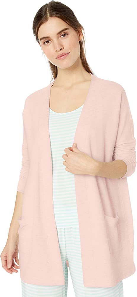 Essentials Womens Lightweight Lounge Terry Short-Sleeve Relaxed-fit T-Shirt
