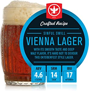 BrewDemon 2 Gal. Sinful Swill Vienna Lager Beer Recipe Kit - Makes a Wicked-Good 4.6% ABV Batch of Craft Brewed Beer