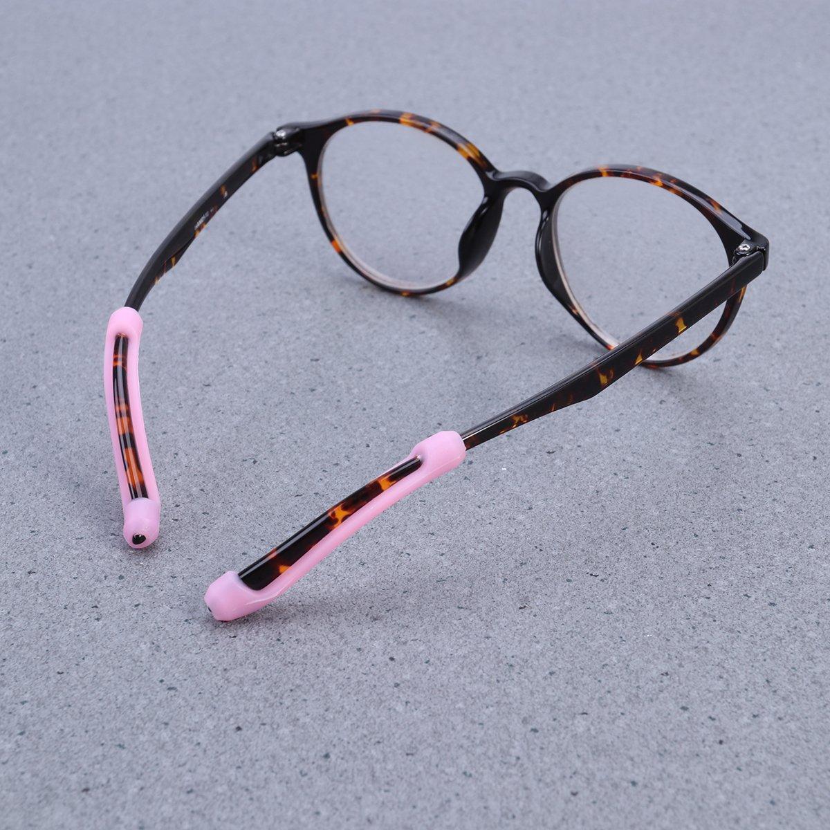 ROSENICE Silicone Anti Slip Ear Hooks for Eyeglass Sunglasses 5 Pairs Pink