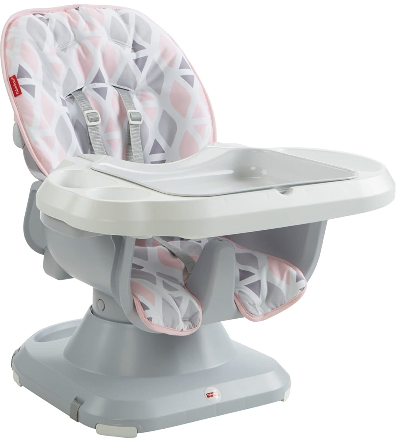 Fisher-Price SpaceSaver High Chair, Geo Multicolor FFJ02