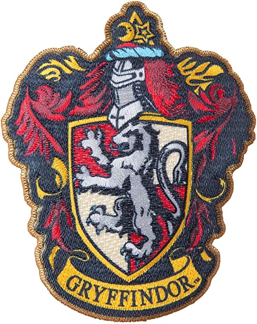 """Harry Potter The 4 Houses of Hogwarts Crest 4.5/"""" Logo Embroidery Applique Patch"""
