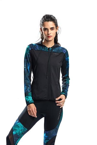 SILIK Chaqueta Deportiva Suéter con Cremallera de Manga Larga Sudadera de Fitness para Mujer: Amazon.es: Ropa y accesorios