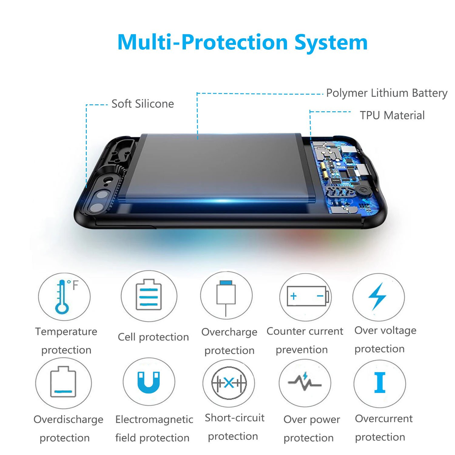 Mozeat iPhone 6s 6 Battery Case Slim 4000mAh Rechargeable Charging Case for 4.7\