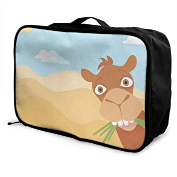 Travel Luggage Duffle Bag Lightweight Portable Handbag Fire Lion Pattern Large Capacity Waterproof Foldable Storage Tote