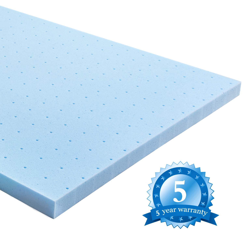 lauraland mattress topper gel infused memory foam mattress topper with cooling 192802637116 ebay. Black Bedroom Furniture Sets. Home Design Ideas