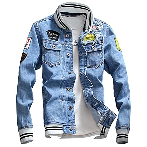 Jean Jacket With Patches Amazon Com