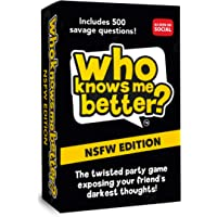 The Social Store - Who Knows Me Better? NSFW Edition | Hilarious Party & Drinking Game for Adults | Card Game | for Pre…