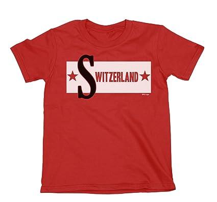 Switzerland Boys Girls Cuban Inspired T-Shirt Football World Cup 2018 Kids  Retro Cuba Style 6f85c1128