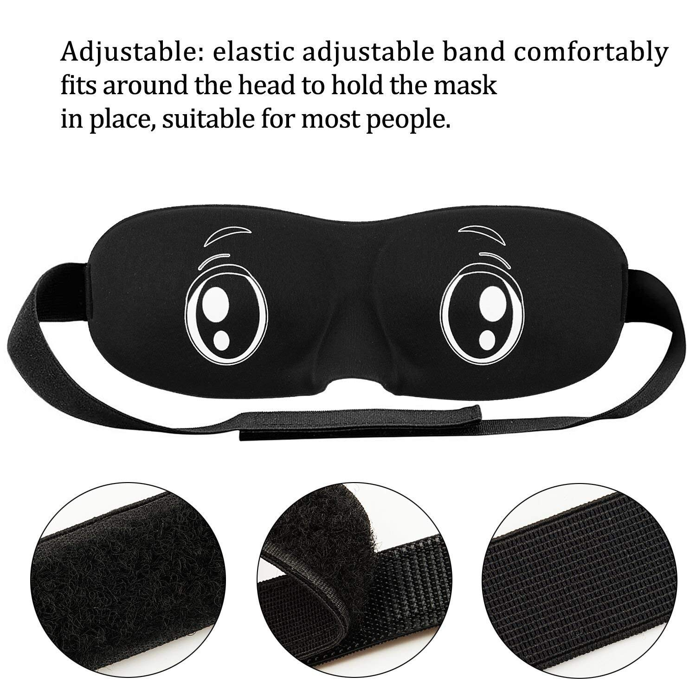 Newyond Schlafmaske,Verstellbarer komfortabler Riemen Augenmaske 2 St/ücke
