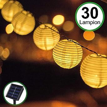 Guirlande Lumineuse Lampe Solaire Exterieur Jardin, Bawoo 30 LED 5.5 ...