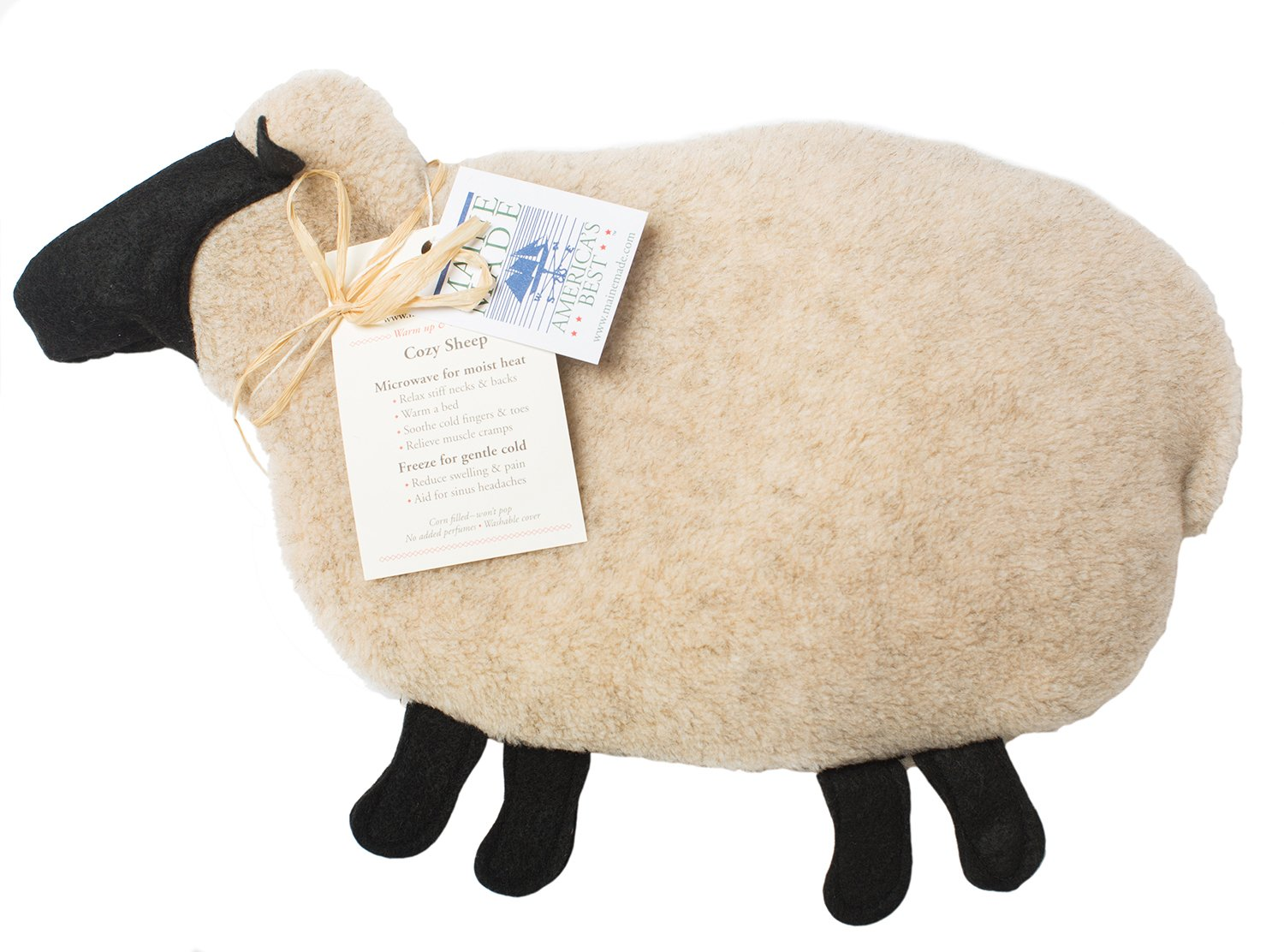 Maine Warmers Cozy Sheep Corn Filled Heating Pad - Heat or Freeze!