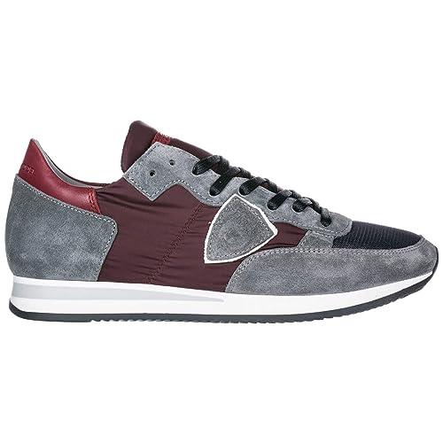 83a63b9c9c Philippe Model Scarpe Sneakers Uomo camoscio Nuove Tropez Grigio