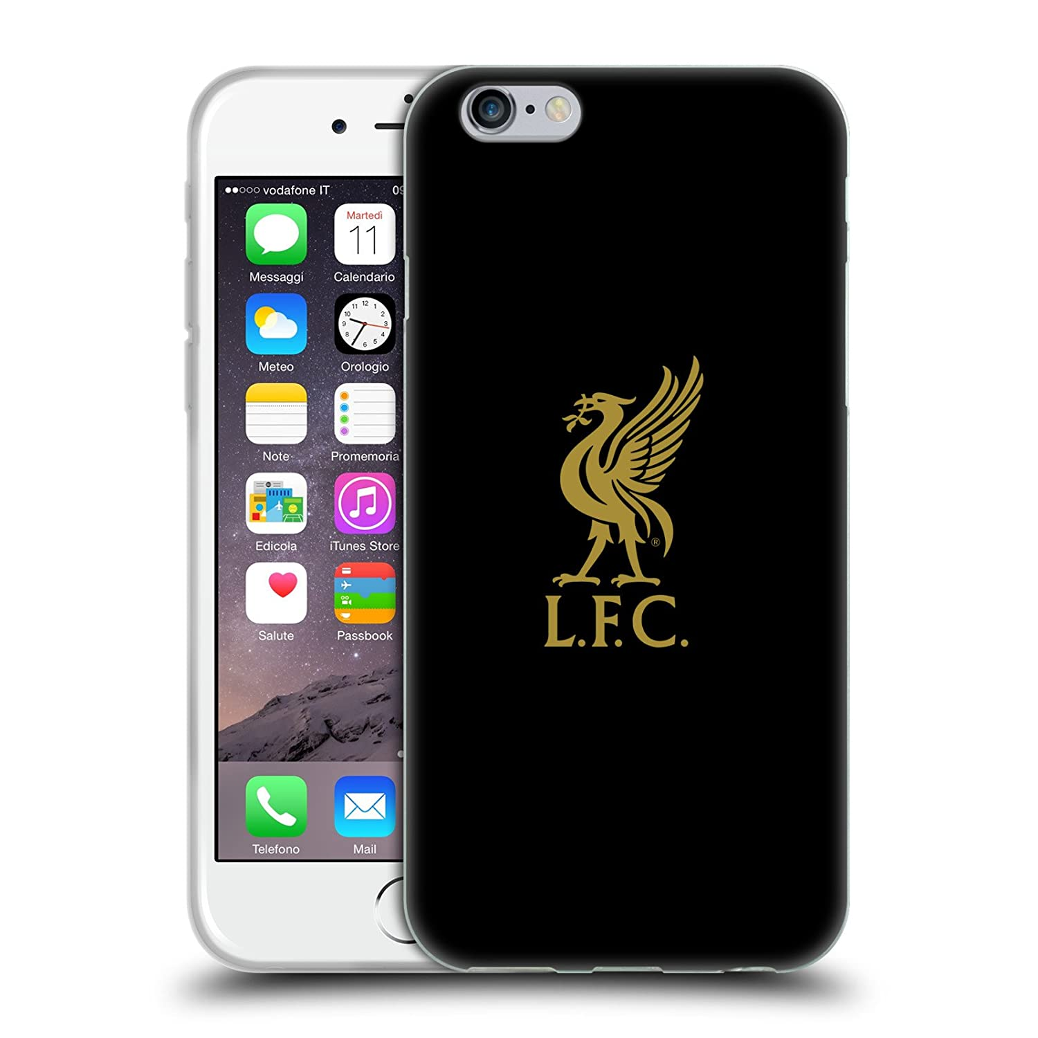 Liverpool Calendario.Official Liverpool Football Club Gold Logo On Black Liver Bird Soft Gel Case For Iphone 6 Iphone 6s