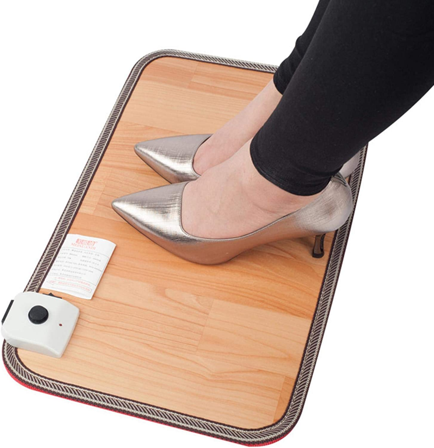 JIANWEI Electric Heated Foot Floor Mats, Carbon Crystal Heating Pad Heated Foot Warmer for Office and Home, 5030cm