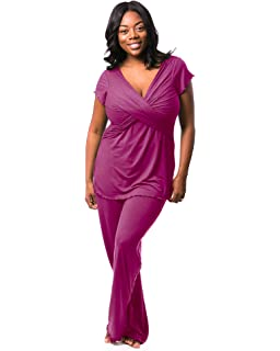 7afbed9e038a3 Kindred Bravely Davy Ultra Soft Maternity & Nursing Pajamas Sleepwear Set