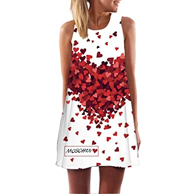 Summer 3D Print Flower Dress Retro Mini Women Casual Vintage Vestidos Dresses 1 S