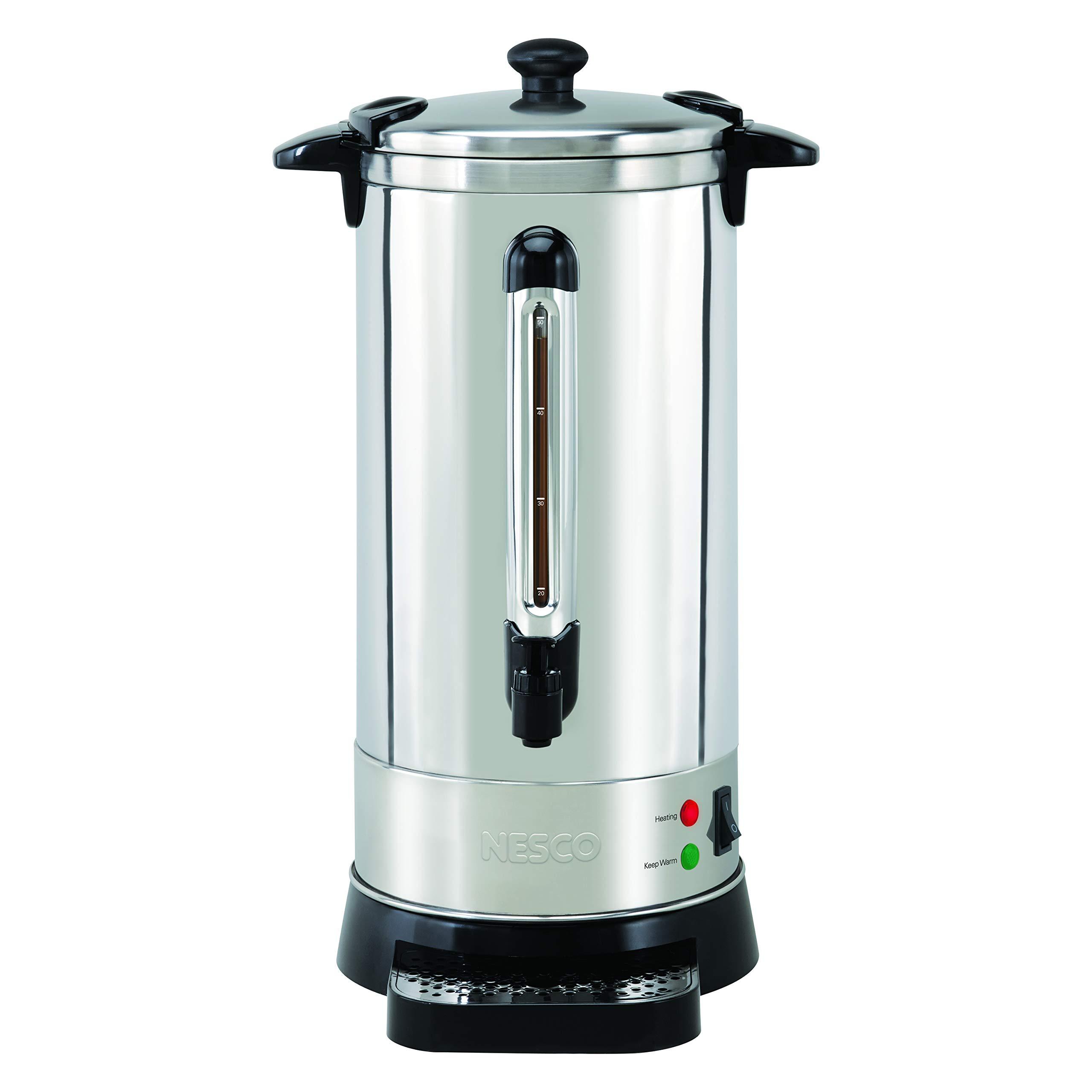 NESCO CU-50, Professional Coffee Urn, 50 Cups, Stainless Steel by Nesco