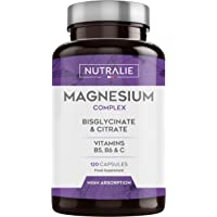 Magnesio con Vitaminas B5, B6 y C | Bisglicinato y Citrato de Magnesio 100%…