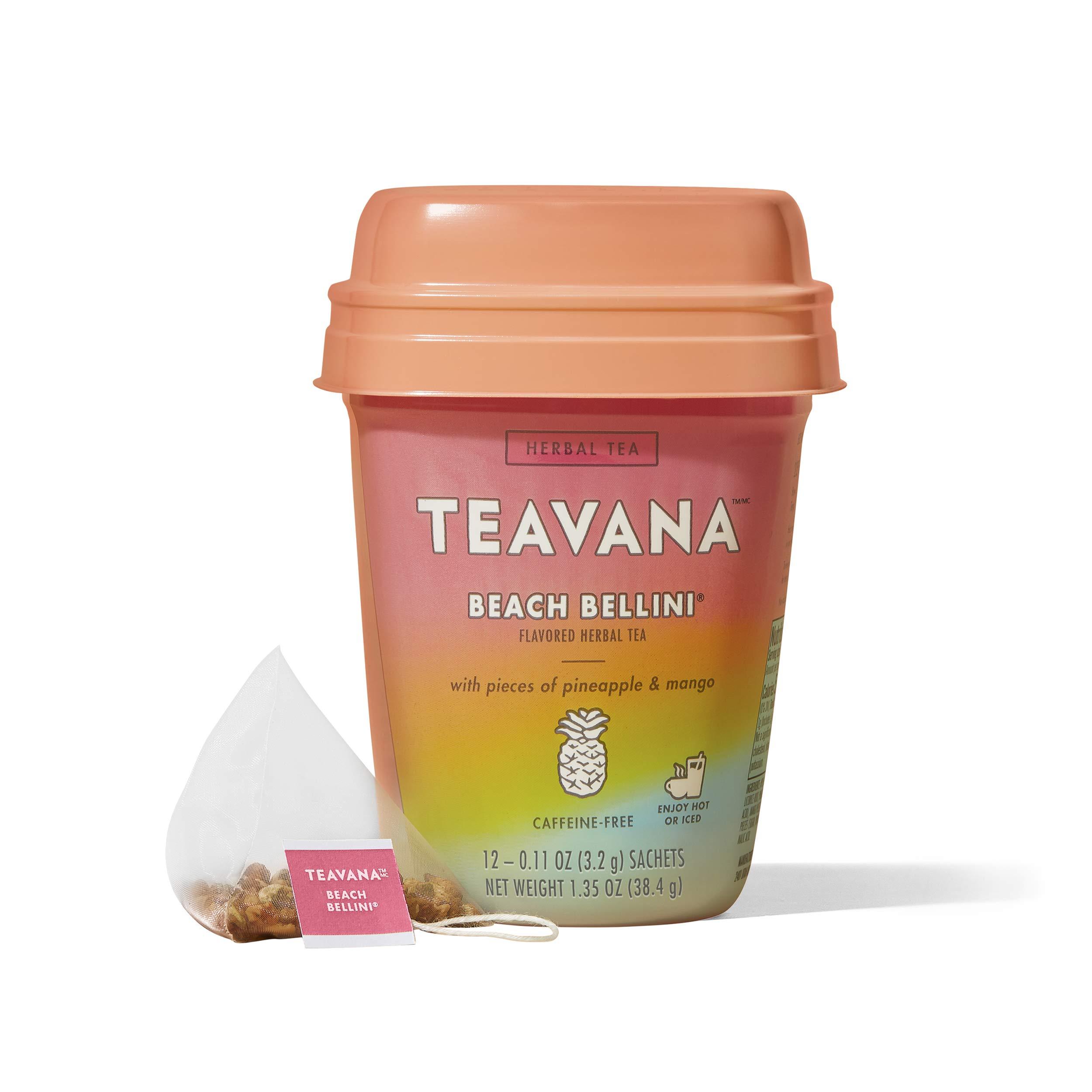 Teavana Beach Bellini, Herbal Tea WithPiece of Pineapple & Mango, 48Count (4 Pack of 12 sachets)