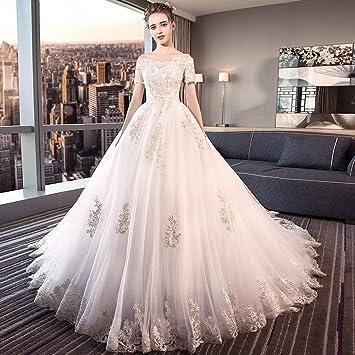 YT-ER Vestido de Novia Estilo Retro Princesa de la Corte de Fantasía Vestido de