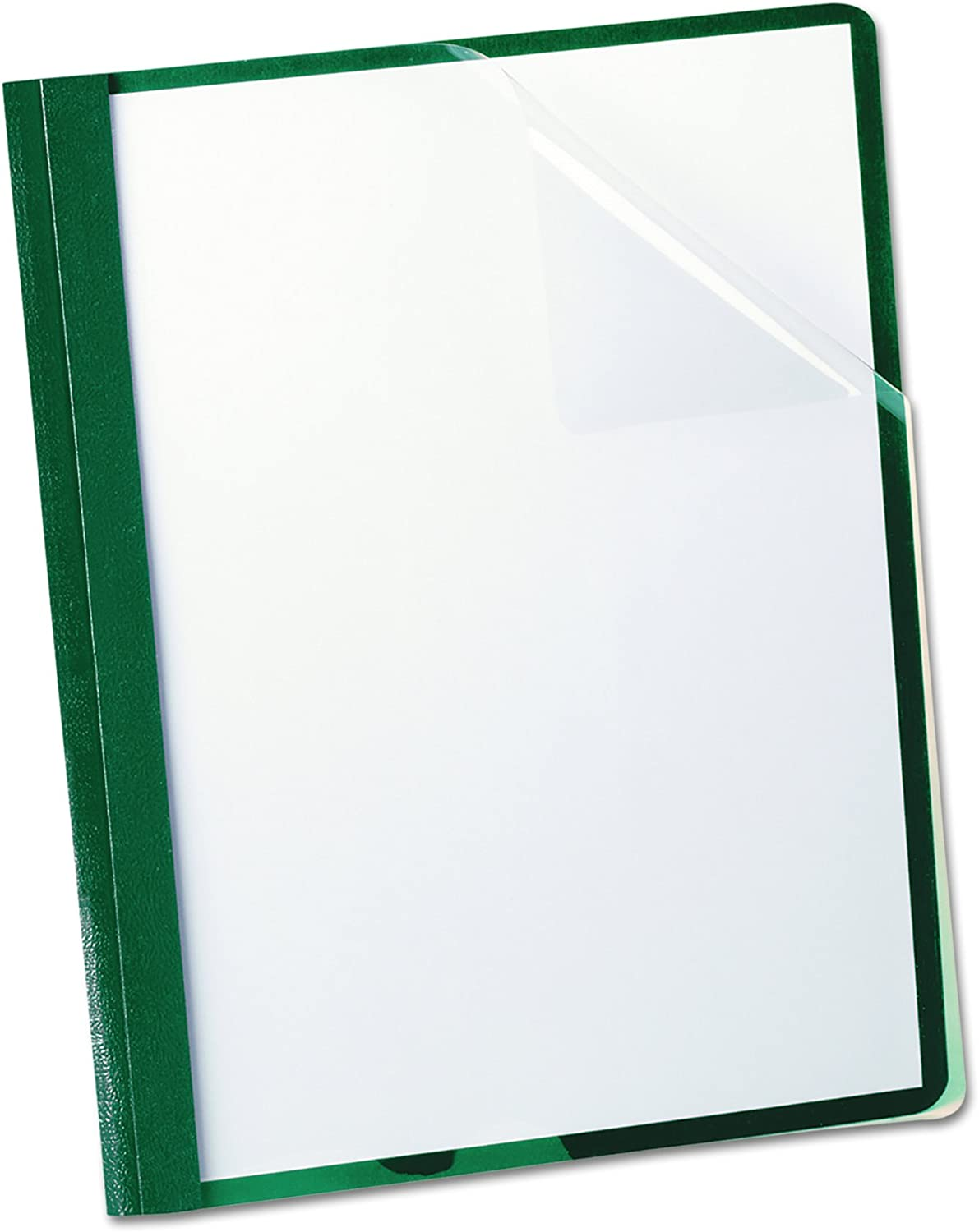 B0006HXBPS Oxford Clear Front Report Covers, Letter Size, Hunter Green, 25 per Box (55856) 71VC%2BGjn5ZL
