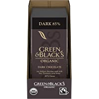 Green & Black's Organic Dark Chocolate Bar, 85% Cacao, 10 - 3.17 oz Bars