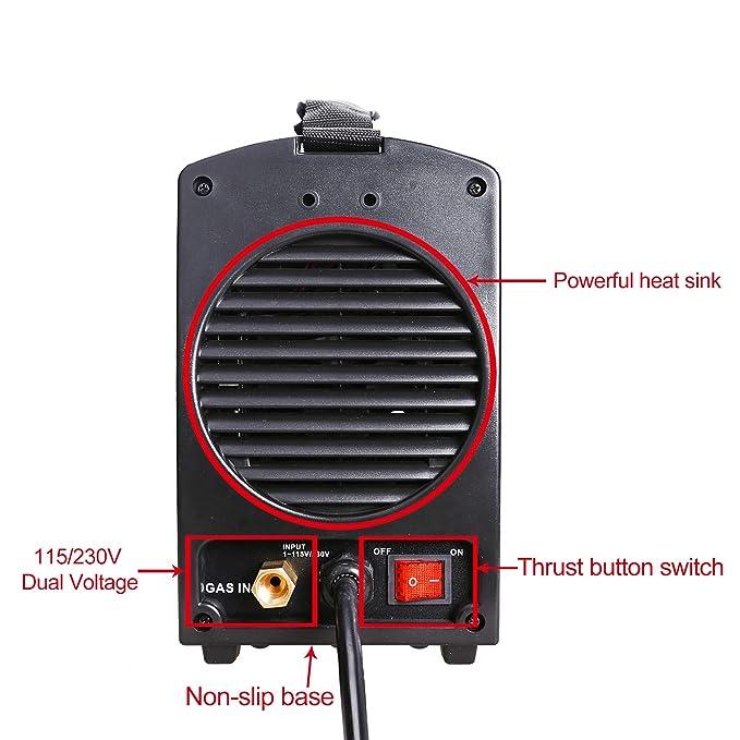 Ansen Welder IGBT Inverter Electric Welder 115V/230V Dual Voltage Tig&Stick DC Lift TIG Portable Welding Machine(160AMP/200AMP) (TIG-205S-200A)
