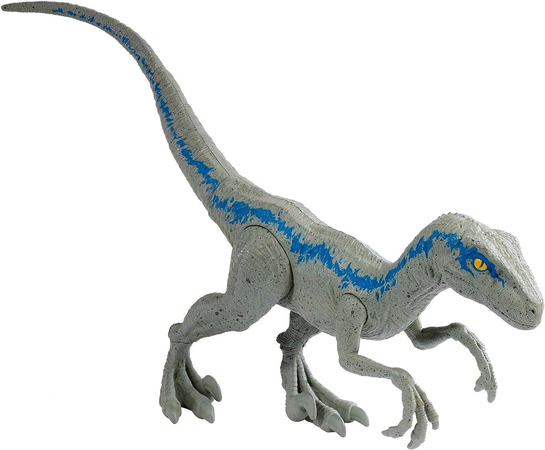 Jurassic World Dinosaur Velociraptor Clever Blue 3D LED L/ámpara de mesa 7 Cambio de color Luz nocturna Decoraci/ón de la habitaci/ón Regalo de Navidad Juguete para ni/ños