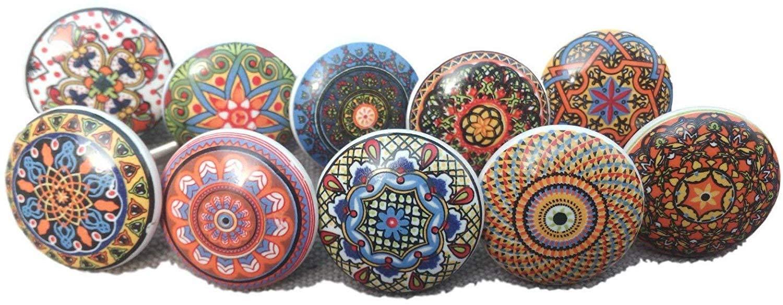 Stile Vintage 10 Pezzi Motivo Floreale Bottoni in Ceramica cosynee