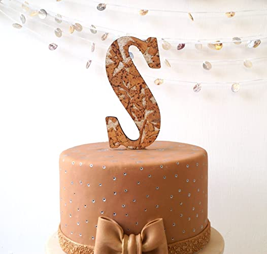 Amazon Com Rustic Wedding Cake Topper Custom Monogram Letter Cake